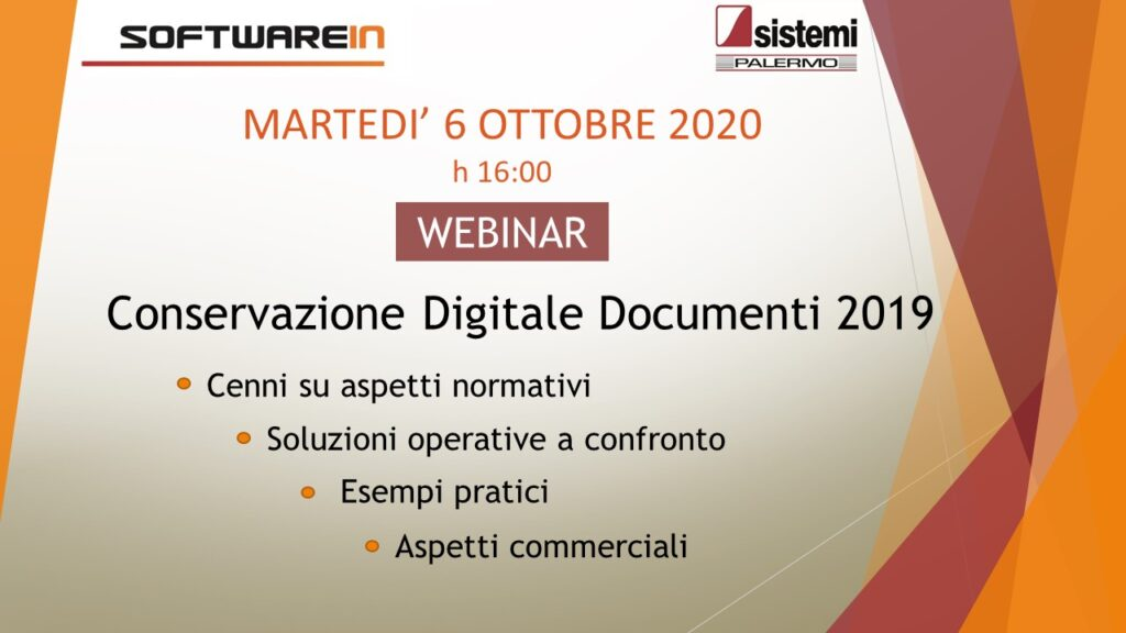 Webinar 6 Ottobre 2020 Aziende - Softwarein